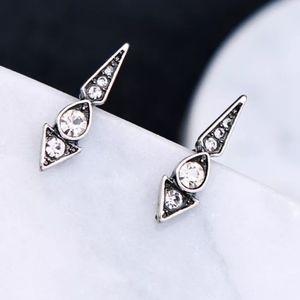 Jewelry - Gold and Silver Modern Geometric Dangle Earrings